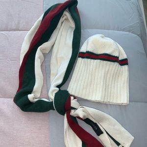 Gucci hat & scarf